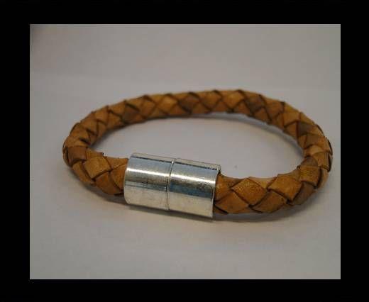 Bracelet en cuir avec fermoir non inoxydable - MLBSP-24