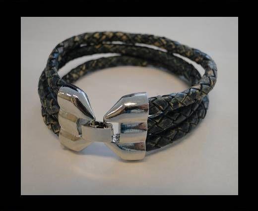 Bracelet en cuir avec fermoir non inoxydable - MLBSP-25