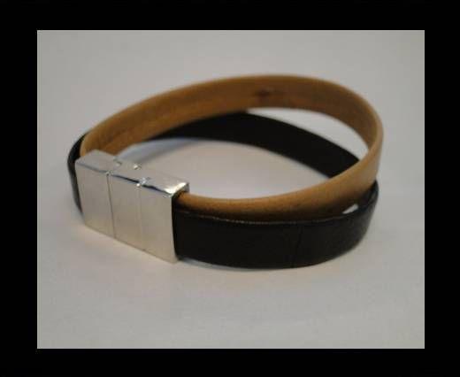 Bracelet en cuir avec fermoir non inoxydable - MLBSP-31