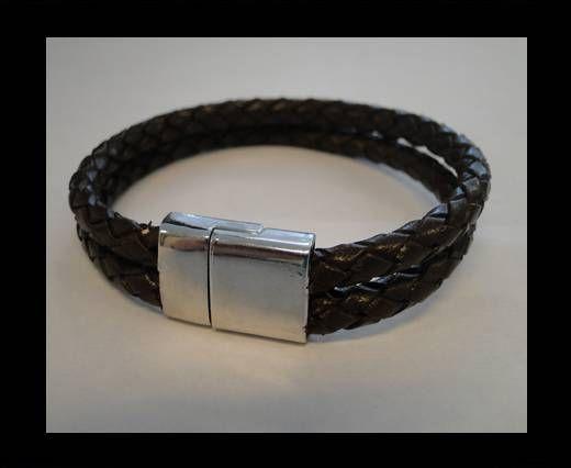 Bracelet en cuir avec fermoir non inoxydable - MLBSP-32