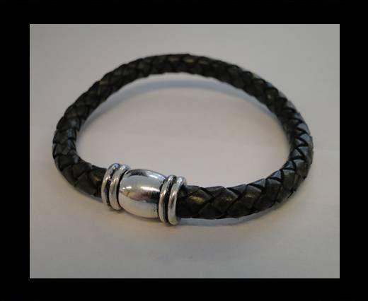 Bracelet en cuir avec fermoir non inoxydable - MLBSP-34