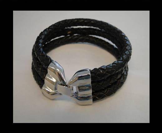 Bracelet en cuir avec fermoir non inoxydable - MLBSP-39