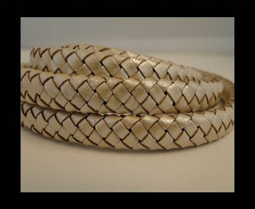 Oval Braided Leather Cord - SE-M-13