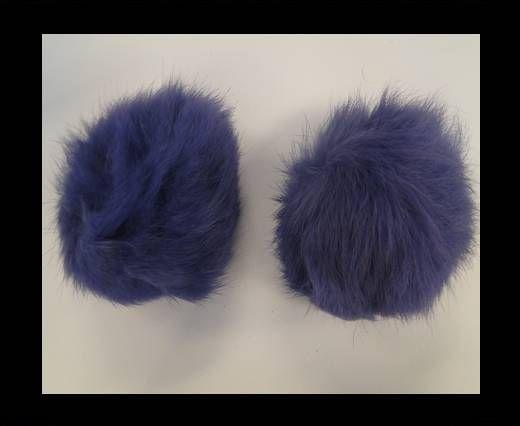 Pompon en fourrure de lapin - 9cm - Violet clair