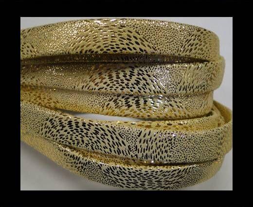 Real napa 10 mm Flat - Snake style Gold
