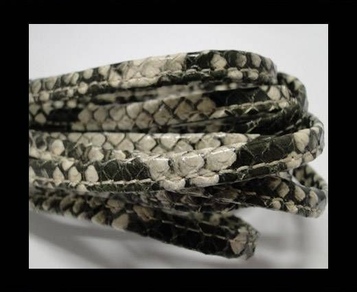 Real nappa leather stitched - 5mm - Snake Style - Phyton Rock