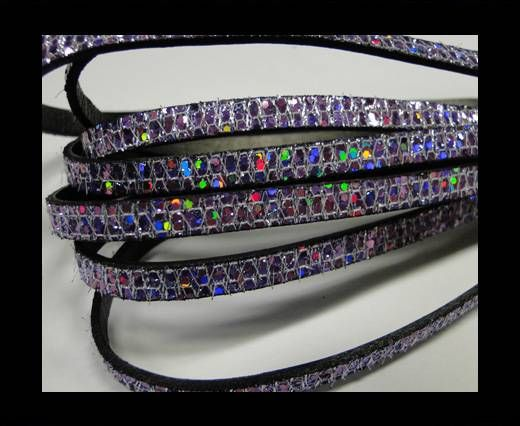 Real Nappa Leather - VIOLET -Glitter Style -5mm