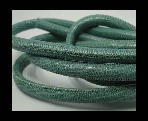 Real Round Nappa Leather cords - Lizard Prints -Mint Lizard- 6mm
