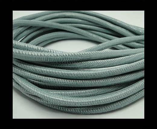 Real Round Nappa Leather cords-Lizard Prints-Pastel Blue Lizard-