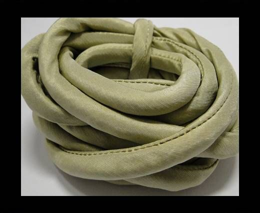 Real silk cords with inserts - 8 mm - Olive