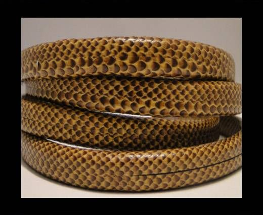 Cuir Regaliz - Snake Style - Marron foncé