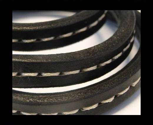 Cuir Regaliz - Stitched Style - Noir