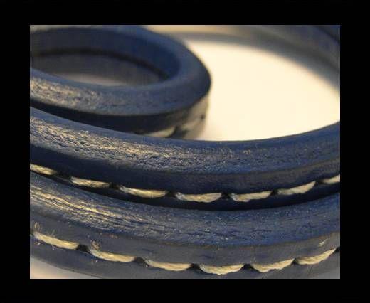 Cuir Regaliz - Stitched Style - Bleu