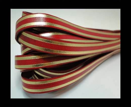 RFL-10MM with stripes on both sides-Red with golden
