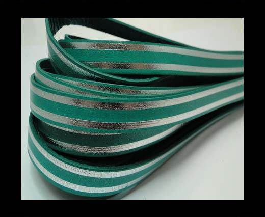 RFL-10MM with stripes on both sides-Turquoise with silver