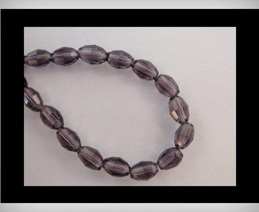 Rice Glass Beads -4mm*6mm-Amtheyst