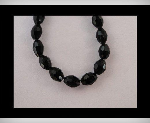 Rice Glass Beads -4mm*6mm-Black Quartz