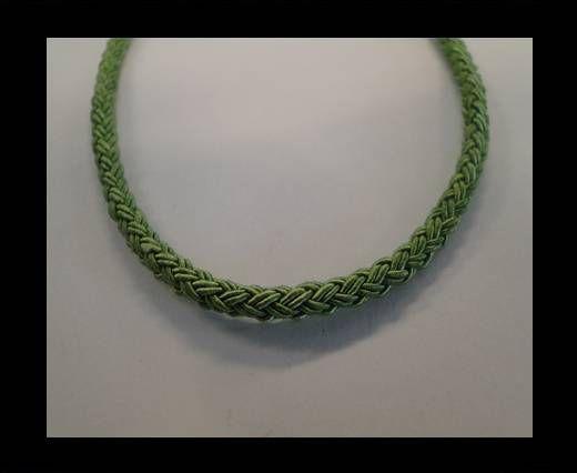 Coton rond tressé - Vert