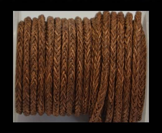 Round Braided Bolo Cords - 4mm - Vintage Cognec
