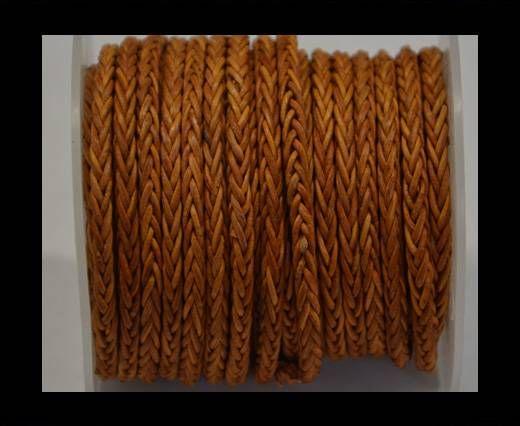 Round Braided Bolo Cords - 4mm - Vintage Orange