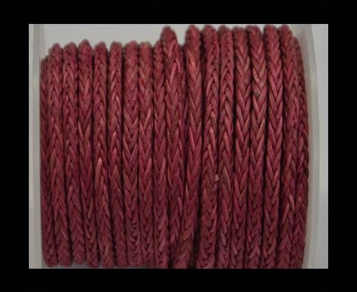 Round Braided Bolo Cords - 4mm - Vintage Pink