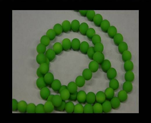 Round Glass beads 8mm - Neon Green