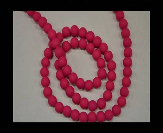 Round Glass beads 8mm - Neon Pink