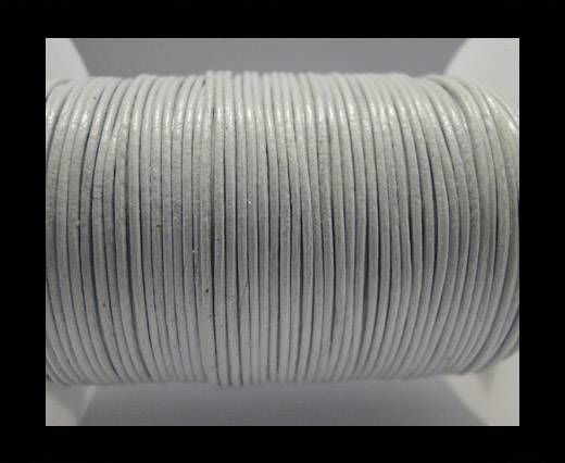 Round Leather Cord  SE-White - 1mm