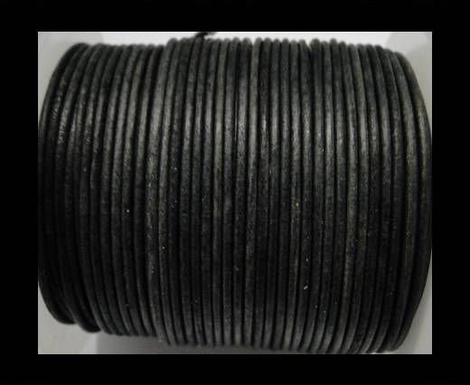 Round Leather Cord Vintage Grey - 1,5mm