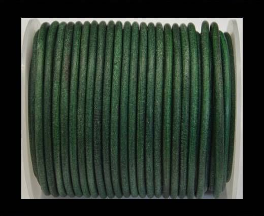 Round Leather Cord 4mm-Vintage Green