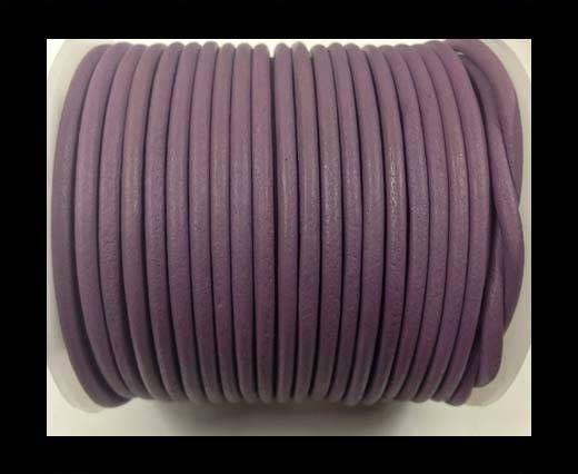 Cordon cuir Rond - Violet Pastel - 3 mm