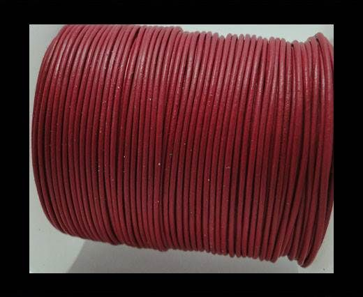 Round Leather Cord -1mm - Raspberry