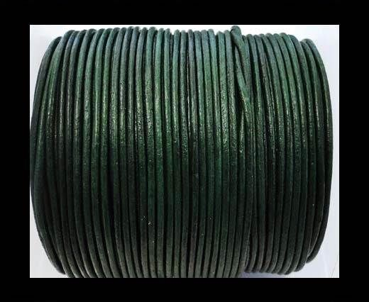 Round Leather Cord -1mm - SE Apple Green