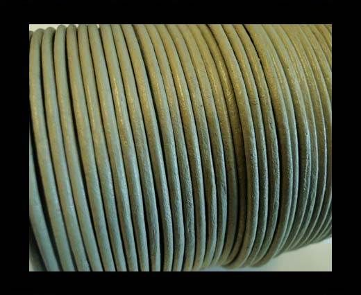 Round Leather Cord -1mm - SE R Light Grey