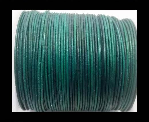 Round Leather Cord -1mm- SE Vintage Turquoise