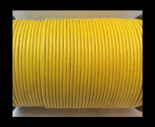 Round Leather cords  2,5mm -Yellow