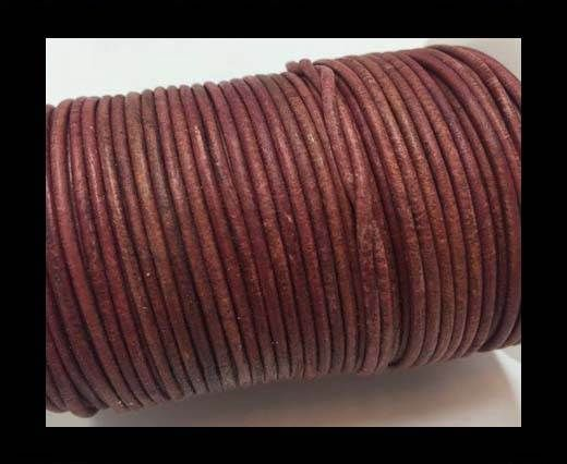 Round Leather Cord -1mm - SE Antique Rose