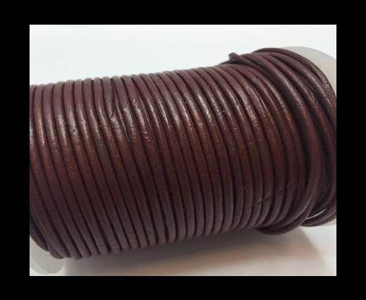 Round Leather Cord  - Red Wine - 1mm