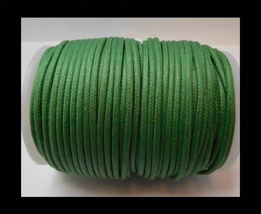 Round Wax Cotton Cords - 3mm - Islamic Green
