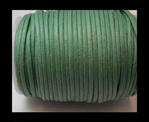 Round Wax Cotton Cords - 3mm - Sea Blue