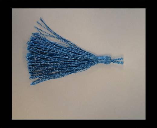 Pampille en satin - Turquoise