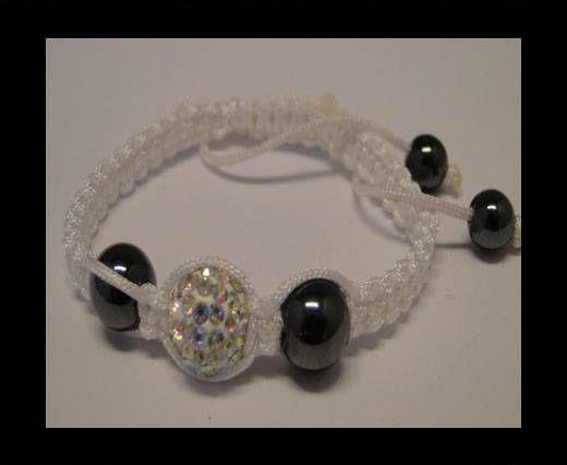 Bracelet Shamballa SB - Cristal - Blanc - Style 4