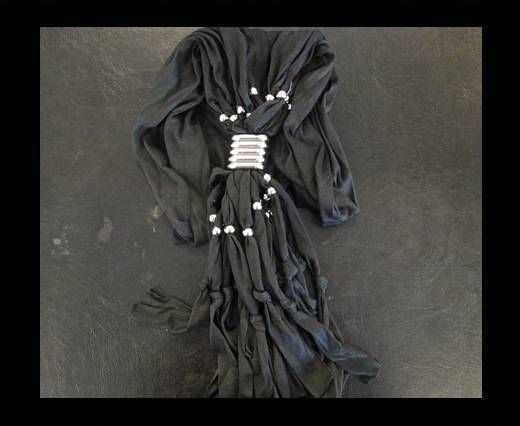 Scarf With Beads Style4-Black