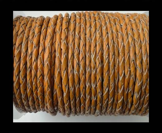 Round Braided Leather Cord SE/B/2005-Fire Opal-3mm