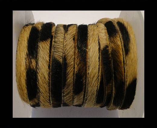 Hair-On Flat Leather-Leopard Skin-5MM