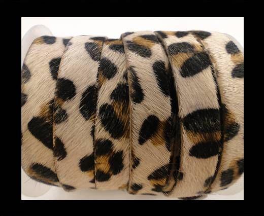 Cuir naturel avec poil - 5mm - Leopard skin (light)