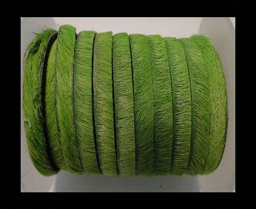 Cuir naturel avec poil - 5mm - Grass green