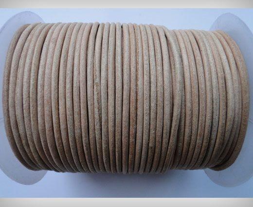 Cordon de cuir SE/R/01 Natural - 5mm