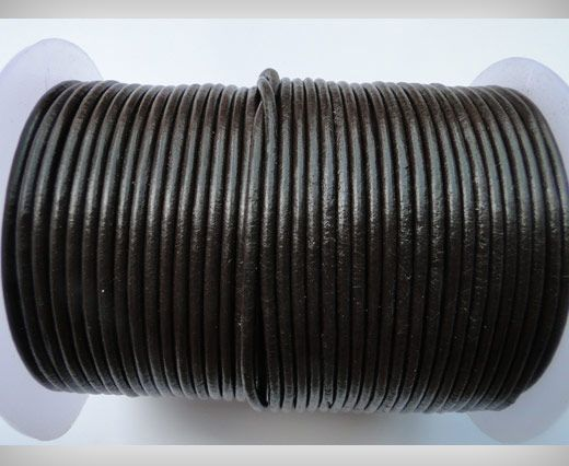 Cordon de cuir SE/R/03 - Dark Brown - 4mm