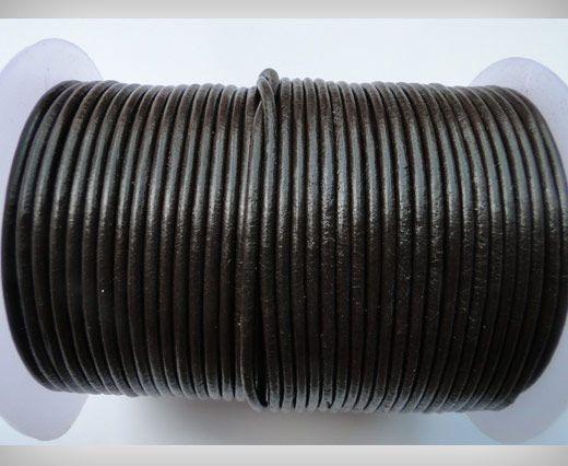 Cordon de cuir SE/R/03 - Dark Brown - 5mm